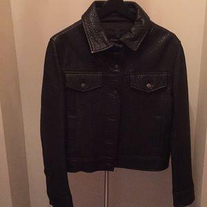 Vera Wang soft leather jacket